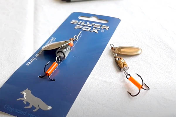 Вращающиеся блесны Silver Fox, производства Aquatech Plastics,Украина, Видео!