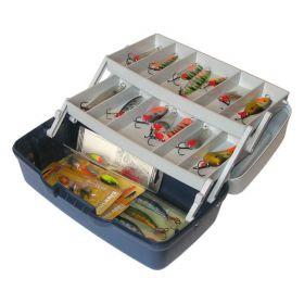 Ящик 2х-полочный 1702Т с прозрачной крышкой